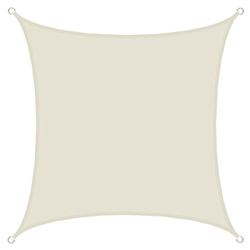 AMANKA UPF50+ Sonnensegel 3x3 UV Schutz Regenschutz Windschutz Polyester Beige