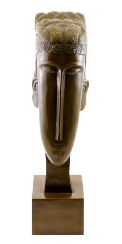 Kunst & Ambiente - Bronzefigur/Bronzekopf - Head of a Woman (1912) - signiert - Amedeo Modigliani Skulptur - Figur