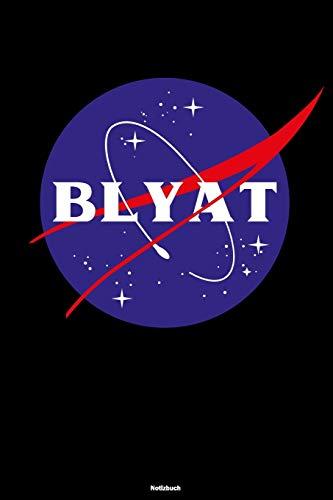 Blyat Notizbuch: Lustiges Russland Buch Russisches Weltraum Meme Journal Cyka Blyat Gopnik Geschenk