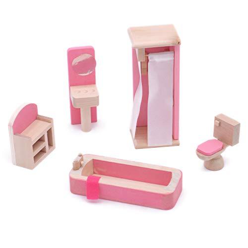 POFET Juego de Muebles de casa de muñecas