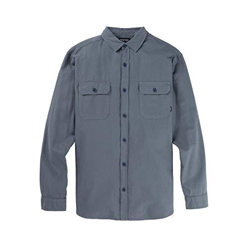 Burton Herren Hemd Brighton Flannel Dark Slate, Größe M, Blau