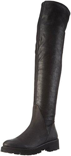 SPM Damen Atlas Overknee-Unlined Shaft+P Langschaft Stiefel, Schwarz (Black/Black), 40 EU