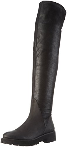 SPM Damen Atlas Overknee-Unlined Shaft+P Langschaft Stiefel, Schwarz (Black/Black), 40 EU