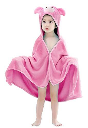 Keven - Poncho con capucha para niños de 1 a 7 años rojo rojo
