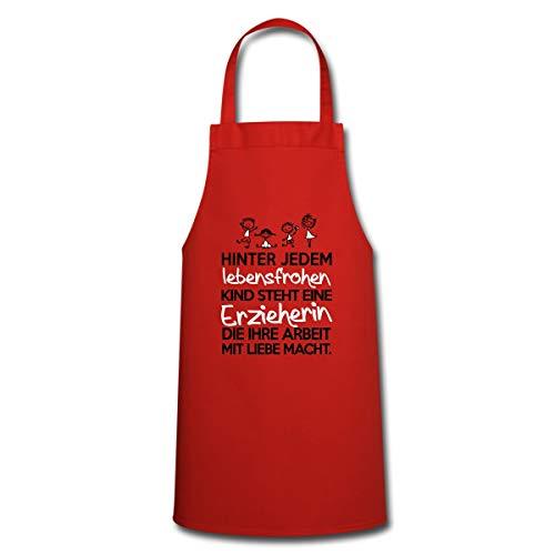 Spreadshirt Erzieherin Mit Liebe Lebensfrohe Kinder Kochschürze, Rot