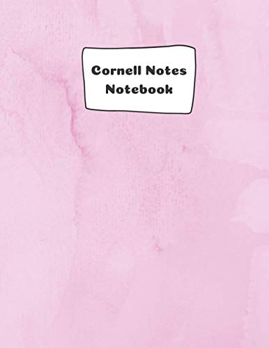 Cornell Notes Notebook: Cornell Note Paper Notebook- Rosy Cover: College ruled composition notebook journal-Large Notebook 8.5x1