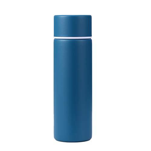 YYZLL Tragbare 150ml Mini Vacuum Cup 304 Edelstahl vakuumisolierte Flasche im Freien Spielraum Wandern Kaffeetasse Sport-Wasser-Flasche,Blau