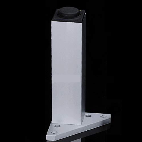 Kast Voeten Hoogte Verstelbare Vierkante Kast Voeten Aluminium Meubelpoten Kast Benen Ondersteuning Voet Matten Koffie Tafel Benen (Slechts één), 30 cm