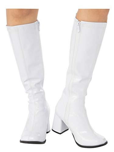 Rubie's Women's Costume GoGo Boots, White, 8