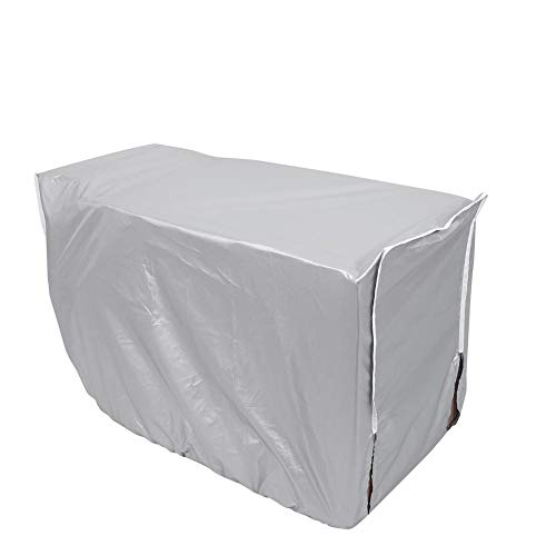 Coperchio Climatizzatore Esterno Universale, Copertura per Condizionatore Protezione Anti-polvere Anti-Neve Impermeabile Protector Schermo in Tessuto d'argento (94 * 40 * 73cm)