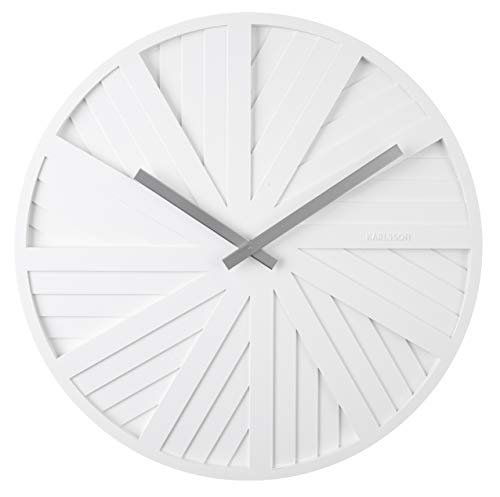 Karlsson - Slides - Wanduhr - Design Chantal Drenthe - Kunststoff - Weiss - D 40 cm - Excl.