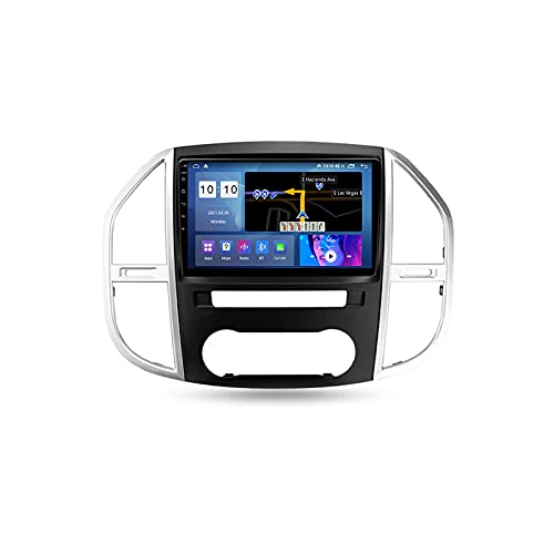 Android 10.0 Car Stereo Double DIN Radio para Benz Vito 3 W447 2014-2020 Navegación GPS Reproductor Multimedia de 9 '' Receptor de Video Bluetooth con 4G WiFi SWC DSP USB Carplay