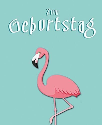 Verjaardagskaart Midi-Card - Flamingo, klem - 6,5 x 8,0 cm