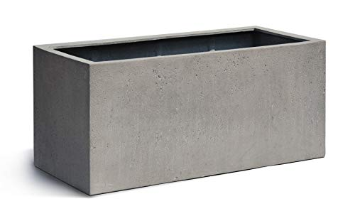 VAPLANTO® Pflanzkübel Box 85 Beton Grau Rechteckig * 85 x 35 x 35 cm * 10 Jahre Garantie