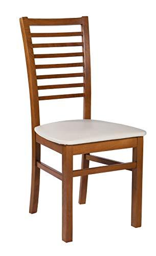 Möbel Gregor Esszimmerstuhl Holzstuhl Küchenstuhl Stuhl Stühle Sessel Wohnzimmerstuhl KR- 243 (KIRSCHBAUM)