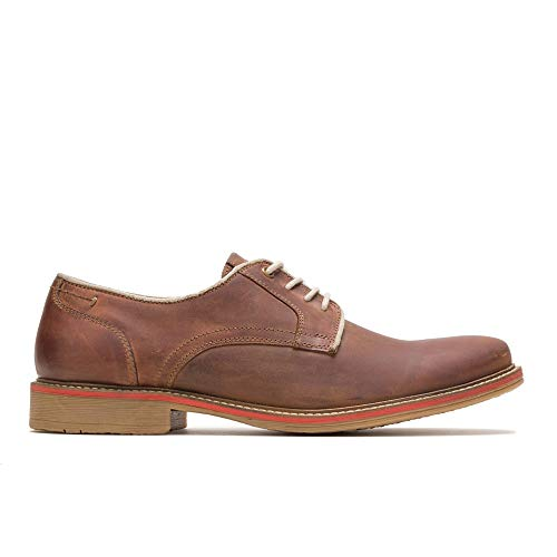 Hush Puppies Mens Giles PT Oxford, MID Brown Leather,10.5