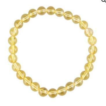 Pulsera de citrina de prosperidad y creatividad, perla de 8 mm