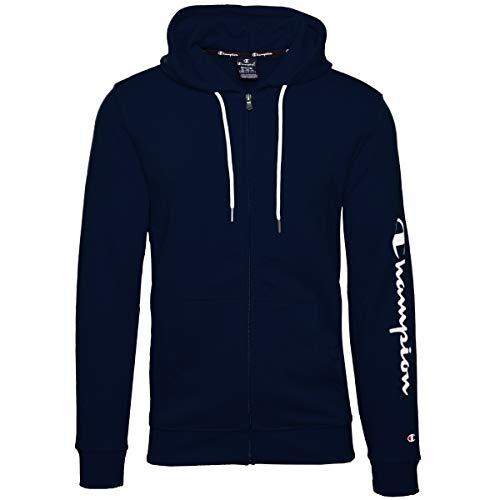 Champion Sweat zippé à capuche pour homme - Bleu - XL