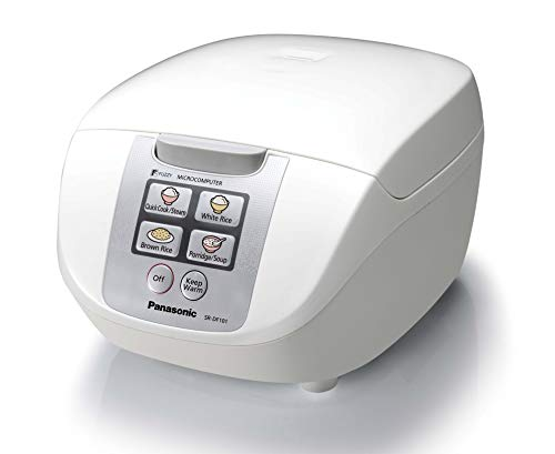 Panasonic SR-DF101WST Rice Cooker, 5 Cup, White