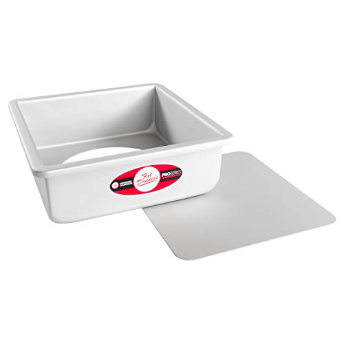 Fat Daddio's Anodized Aluminum Square Cheesecake Pan with Removable Bottom, 8 Inch x 8 Inch x 3 Inch