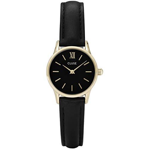 Cluse Unisex Erwachsene Digital Quarz Uhr mit Leder Armband CL50012