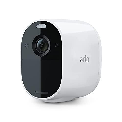 Arlo Essential Spotlight Outdoor Home Security Camera System CCTV, Wi-Fi,...