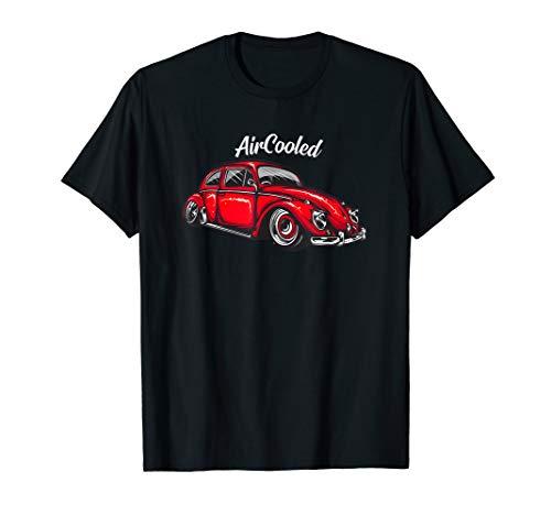 Retro Oldschool Tuning Käfer Auto Aircooled Oldtimer Kfz T-Shirt
