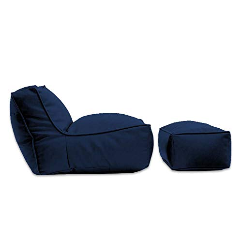 Sillón Puff Kauil (Azul Marino,Lona) ideal para interiores, perfecto para adultos y niños, muy cómodo, de gran tamaño, fabricado en loneta y gamuza en gran variedad de colores, con relleno de espuma 100% amigable con el planeta, sin unicel.