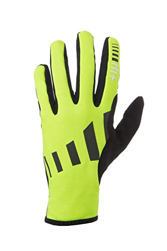 Zero RH+ Zero Lycra Brush, Abbigliamento Bike Glove Unisex – Adulto, Fluo Yellow/Black/Reflex, XS