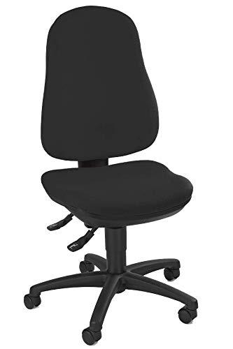 Bürodrehstuhl Bandscheibensitz ergonomisch geformt Schreibtischstuhl Drehstuhl Bürostuhl schwarz 210320