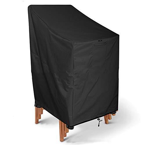 JYW-Covers Housse De Protection, De Plein Air Prime Noir Couverture De Meubles Les Chaises Imperméable/Crème Solaire,Black,66 * 73 * 84Cm