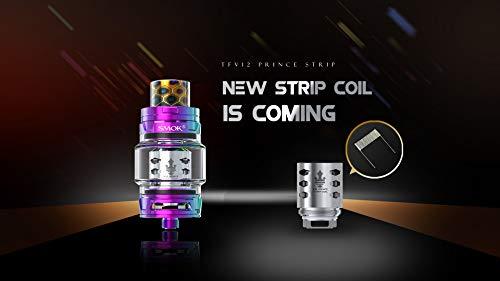 Original Smok TFV12 Prince Tank 8ml Capacity mit TFV12 Prince Coils ohne Nikotin inklusive SHURUN Aufbewahrungstasche (Rostfrei)