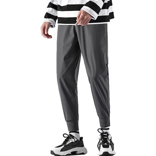 Yikesnt Pantalones Casuales para Hombre Primavera y otoño Moda Juvenil Todo fósforo Deportes al Aire Libre Pantalones Transpirables con Bolsillos y cordón 3XL