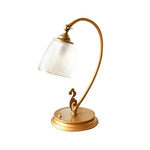 Arte Moderno Lámpara de mesa rústica vintage, lámparas de noche de estilo rústico para el dormitorio, sala de estar, cafetería, base de hierro, pantalla de vidrio esmerilado, bombilla E27 Decoración i
