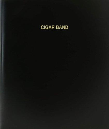 "BookFactory Cigar Band Log Book/Journal/Logbook - 120 Page, 8.5""x11"", Black Hardbound (XLog-120-7CS-A-L-Black(Cigar Band Log Book))"