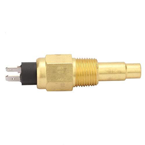 Sensor de Temperatura - 3/8 NPT 3W 103 ℃ Sensor de Temperatura del Agua del Motor de latón Pieza del generador Apto para VDO