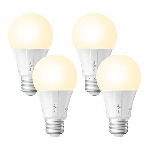 Sengled Smart LED Soft White A19 Light Bulb, Hub Required, 2700K 60W Equivalent, Works with Alexa, Google Assistant & SmartThings, 4 Pack