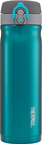 Thermos Edelstahl-Trinkflasche, 470 ml, blaugrün, 500 ml