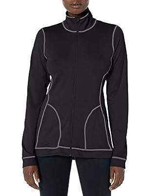 Hanes Women's Sport Performance Fleece Full Zip Jacket, Black, S