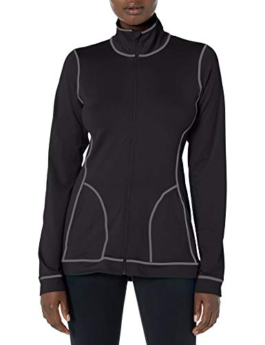 Hanes Women's Sport Performance Fleece Full Zip Jacket, Black, XL