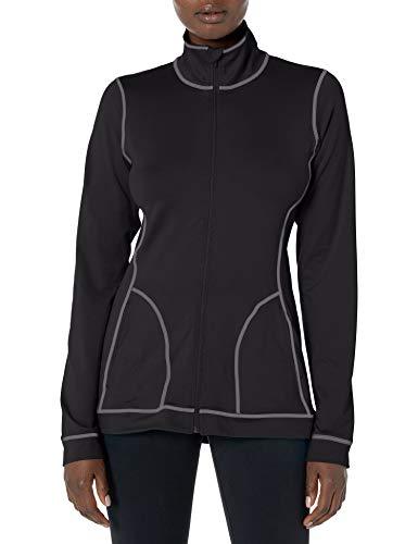 Hanes Women's Sport Performance Fleece Full Zip Jacket, Black, XL