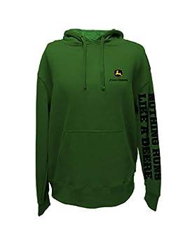 John Deere Green NRLAD Slogan Down ARM Sweatshirt  L