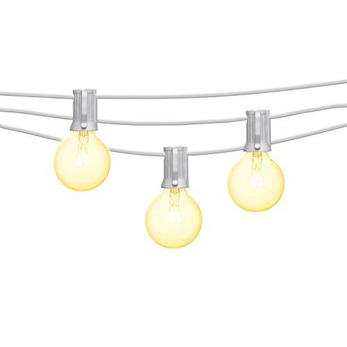 Mr Beams 5W G40 Bulb Incandescent Weatherproof Indoor/Outdoor String Lights, 25 feet, White