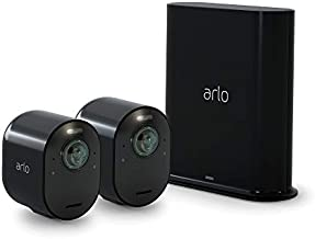 Arlo Ultra 2 Spotlight Camera - 2 Camera Security System - Wireless, 4K Video & HDR, Color Night Vision, 2 Way Audio, Wire-Free, 180º View, Black - VMS5240B-200NAS