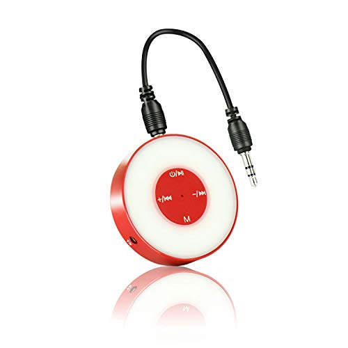 prowithlin Bluetooth 4.2 Sender/Empfänger, 2 in 1 Bluetooth Audio Adapter Freisprecher HiFi Musiksender für TV PC Auto Telefon Wireless Headset ect(Rot)