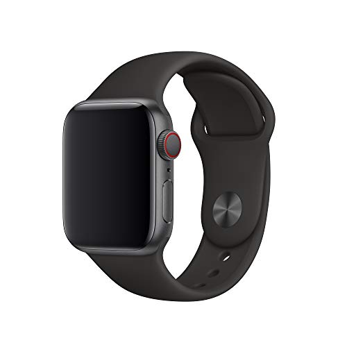 Apple Watch (40mm) Sportarmband, Schwarz - S/M und M/L