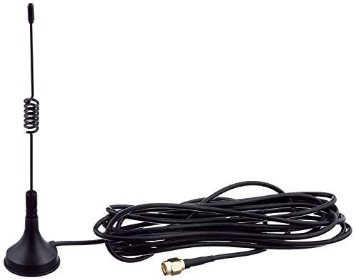 Delock 88877 ISM SMA Omni Star Antenne mit Standfuß 433 MHz, 3 dBi schwarz