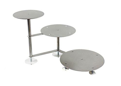 Présentoir à gâteaux rond en aluminium - Escalier - Diamètre : 20, 26, 32 cm - 3 étages