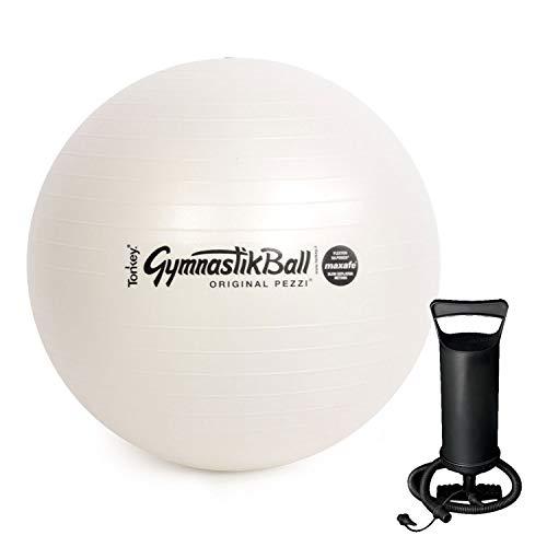 PEZZI Original Pezziball MAXAFE 65 cm mit Pumpe Gymnastikball pearlwhite