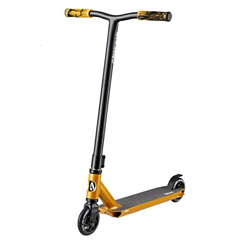 Albott Pro Scooters Trick Scooter - Freestyle 110mm Aluminium Core Wheels Stunt Scooters for Kids 8 Years and Up Entry Level Scooter for Beginner Boys Teens Adults(Gold)